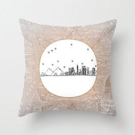 Cairo, Egypt (Giza), Africa City Skyline Illustration Drawing Throw Pillow