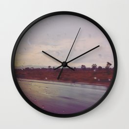 Rainy Travels Wall Clock