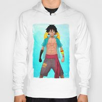 luffy Hoodies featuring Luffy by Yvan Quinet