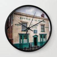 bar Wall Clocks featuring Victorian Bar by Adrian Evans