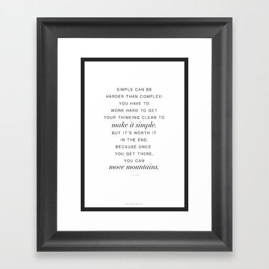 Jobs Framed Art Print