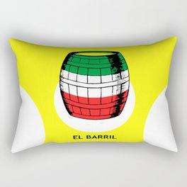 El Barril Mexican Loteria Card Rectangular Pillow