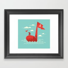the pirate's song Framed Art Print