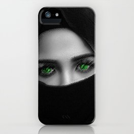 Black and white painting - Woman in Veil - Jeanpaul Ferro iPhone Case
