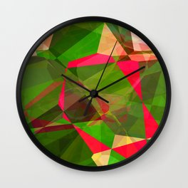 Pink Roses in Anzures 5  Abstract Polygons 2 Wall Clock