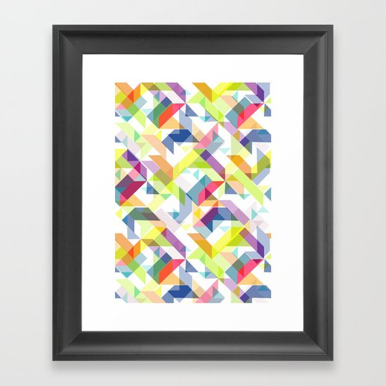 Aztec Geometric II Framed Art Print