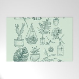 PLANTS LOVER Welcome Mat
