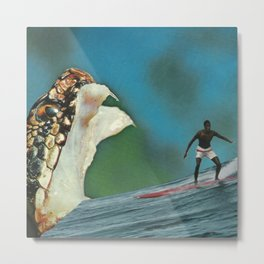 Gone surfin' Metal Print