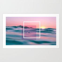 Purple And Pink Ocean Art Art Print