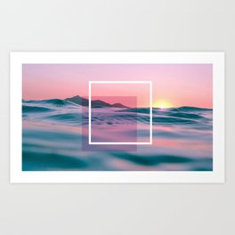 Purple And Pink Ocean Art Art Print