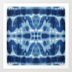 Tie Dye Blues Twos Art Print