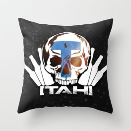 TahitianSURVIVOR -BLACK EDITION- Throw Pillow