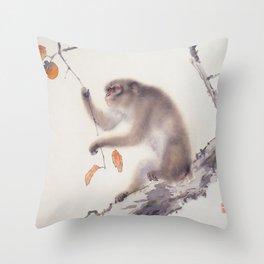 Monkey Vector After Hashimoto Kansetsu Throw Pillow