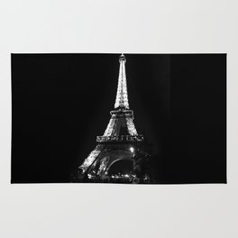 Paris Eiffel tower at night Rug