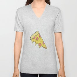 Cheesy Pizza Unisex V-Neck
