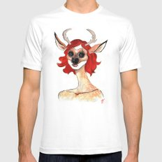 The Masquerade:  The Doe Mens Fitted Tee White MEDIUM