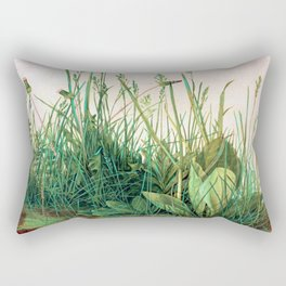 Albrecht Durer Great Piece of Turf Rectangular Pillow
