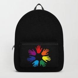 Rainbow hands Backpack