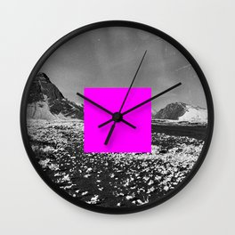 redacted landscape: mature content Wall Clock