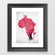 RE | Draw AFRIKA Framed Art Print