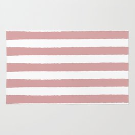 Mauve and white stripes - classy college student collection Rug
