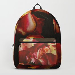 Bright Red Yellow Roses Backpack