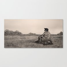 OLD WICKER Canvas Print