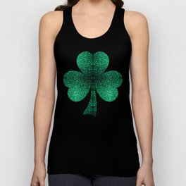 Beautiful Emerald Green glitter sparkles Unisex Tank Top