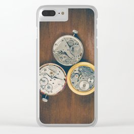 Three Watch Movements Clear iPhone Case