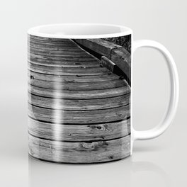 Boardwalk in Nature BW Coffee Mug
