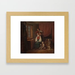 ROBERT WILHELM EKMAN , FLOWER cladding. Framed Art Print