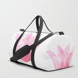 Letting Go - Beautiful Pink Tulip Watercolor Duffle Bag