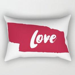 Nebraska Love Rectangular Pillow