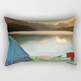 Corky's camping Rectangular Pillow