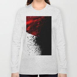 blacknwhitenredallover Long Sleeve T-shirt