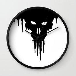 Dissolved Black Skull Wall Clock