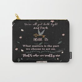 Light and Dark Carry-All Pouch