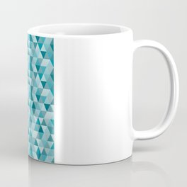 Geometric in Peacock Blue Coffee Mug