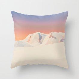 Mount Vinson / Mountain Art Throw Pillow