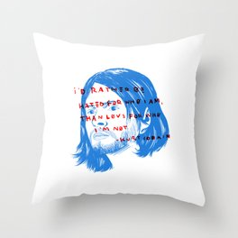 i'd rather be hated for who i am Throw Pillow