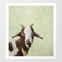 goat Art Prints featuring Goat by The Moon and Mars
