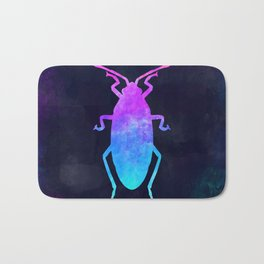 COCKROACH IN SPACE // Animal Graphic Art // Watercolor Canvas Painting // Modern Minimal Cute Bath Mat