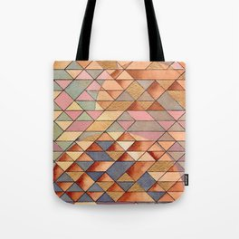 Triangles Circles Golden Sun Tote Bag