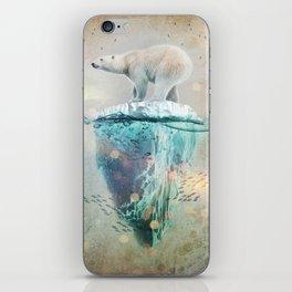 Polar Bear Adrift iPhone Skin