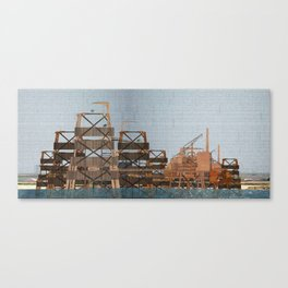 Rigs at sea Canvas Print