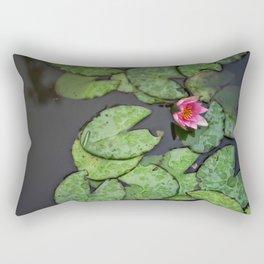 Afloat Lily Pad Nature Photograph Rectangular Pillow