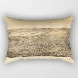 Bird's Eye View of San Jose, California (1869) Rectangular Pillow