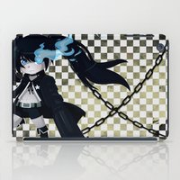 vocaloid iPad Cases featuring Black Rock Shooter by Nozubozu