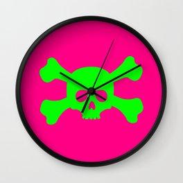 Toxic Skull Wall Clock