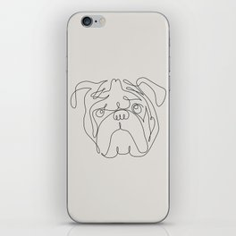One Line English Bulldog iPhone Skin
